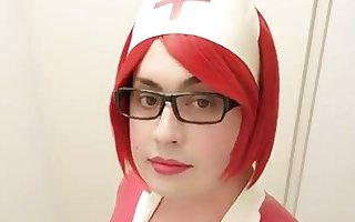 Crossdresser Latex Nurse Corset
