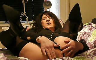 Hot anal toing for horny crossdresser