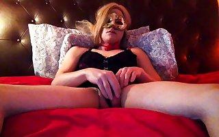 Cute Jenny Rubbing Her Massive Cock