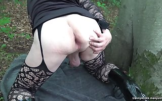 Fucked by an older guy in the woods