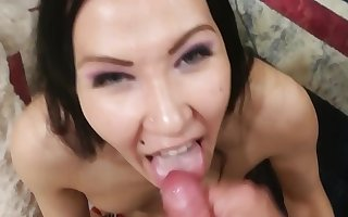 vlada sucks her boyfriend dick